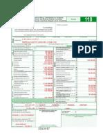 Registro Contable Declaracion de Renta PJ 110, A.g. 2011