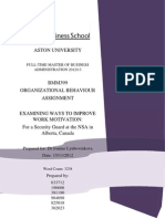 Organisational Behaviour Report Final