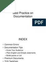 Best Practice on Documentation