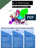 ESTADO E POLÍTICA - CLUBE DE FILOSOFIA