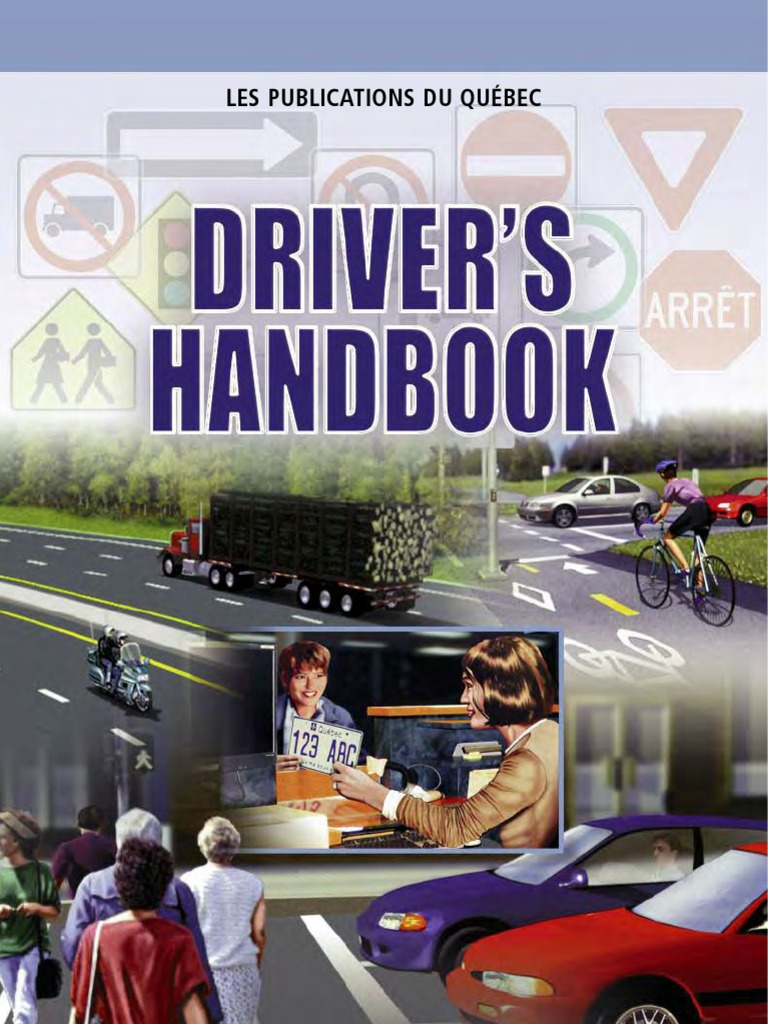 Quebec drivers license handbook traffic traffic light fandeluxe Images