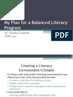 My Balanced Literacy Program