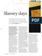 Slavery days; human trafficking in the UK