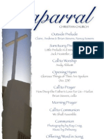Bulletin for November 25, 2012 Chaparral Christian Church