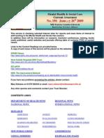 Mental Health Bulletin No 190 January 26th 2009