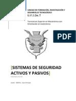 Sistema Segurdiad Activos y Pasivos Trabajo