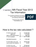 Franklin FY2013 TaxRateInfo