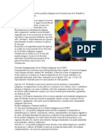 Derechos fundamentales de los pueblos indígenas en la Constitución de la República Bolivariana de Venezuela
