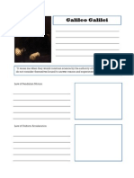 Galileo Notebooking Page