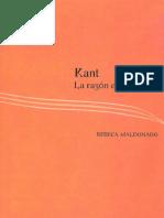 Rebeca Maldonado Kant La Razon Estremecida 2009