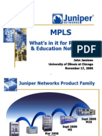 Juniper MPLS for R&E Nets