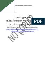investigación, planificación y evaluación del sistema educativo 5-11-12