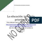 la educación inversión prioritaria 19-11-12