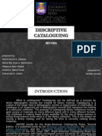 Descriptive Cataloguing