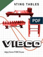 Vibrating Tables Catalog