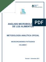 Analisis Microbiologico de Los Alimentos Vol I