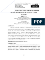 Virtual Instrumentation for Measurement of Strain Using Thin Film Strain Gauge Sensors