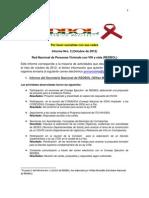 Informe Nro 2 Red Nacional de Personas Viviendo con el VIH y sida en Bolivia (REDBOL) Octubre 2012