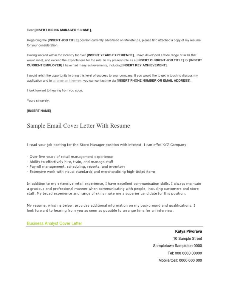 Cover Letter | Résumé | Swot Analysis