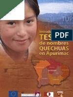 Un Tesoro de Nombres Quechuas