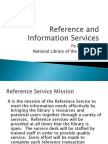Reference and Information Services --Mariano Marcos Memorial Elementary School Learning Center