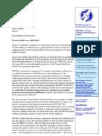 November 2012 Letter for Tourist Guide Law
