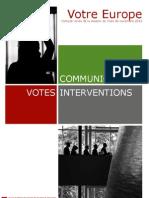 Bilan de la session plénière novembre 2012