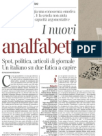 Il Nuovo Analfabetismo - La Lettura 25.11.2012