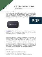 Longues Heures de TravailNouveaux 43-2Mbps Huawei E5756 Wi-Fi Mobile