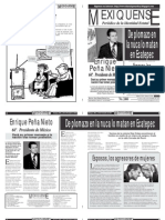 Versión impresa del periódico El mexiquense 26 de noviembre 2012