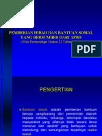 Permendagri Nomor 32 Tahun 2011 Tentang Pemberian Hibah Dan Bantuan Sosial Yang Bersumber Dari APBD