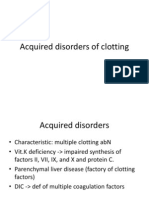 Acquired Disorders of Clotting