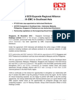 SGX - Listed ECS Expands Regional Alliancewith EMC in Southeast Asia