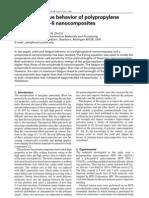 Yield and fatigue behavior of polypropylene and polyamide-6 nanocomposites