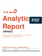 Web Analytics for Open Education projects - Web Analytics Report Template