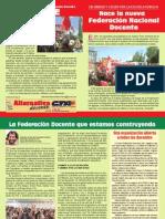 Boletin Nace La Federacion Docente - Afiliate 23-11-2012