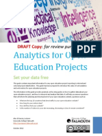 "Web Analytics for Open Education Projects - ""How to"" Guidance  Document (Draft)"