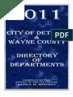 2011 Detroit & Wayne County Directory