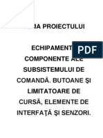 Echipamente componente ale subsistemului de comanda. Butoane