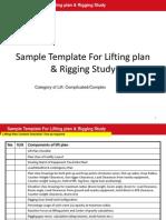 Sample Lifting Plan and Rigging Study