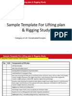 Sample Lifting Plan and Rigging Study