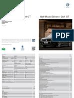 Folheto Golf Black Edition e Gt