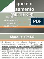 O que é o casamento Mateus 19:3-6