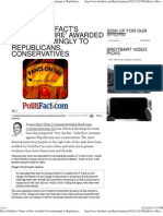 Data PolitiFact's 'Pants on Fire' Awarded Overwhelmingly to Rep