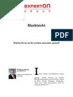 Experton Group Marktsicht; Welches Device ist für welchen Anwender optimal