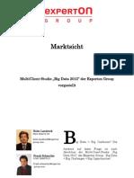Experton Group Marktsicht; MultiClient-Studie Big Data 2012 der Experton Group vorgestellt