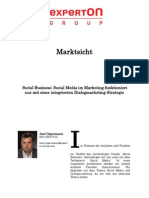 Experton Group Marktsicht;Social Business Social Media Im Marketing funktioniert nur mit einer integrierten Dialogmarketing-Strategie
