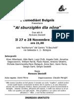 i Cumediant Bulgnis Commedia Al Sburziglen Dla Nona 27 e 28.11.2012 Locandina