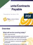 Accounts Payable/Contracts Payable