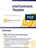 Accounts Payable/Contracts Payable